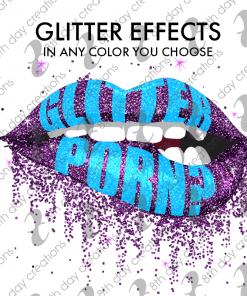 Glitter Biting Lip